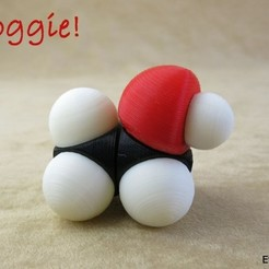 Free 3D printer file Space filling molecular models: Starter set, harfigger