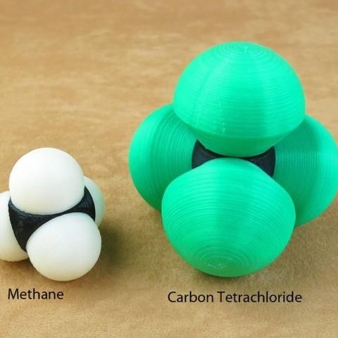 Free 3D printer designs Space-filling molecular models: Halogen expansion set, harfigger