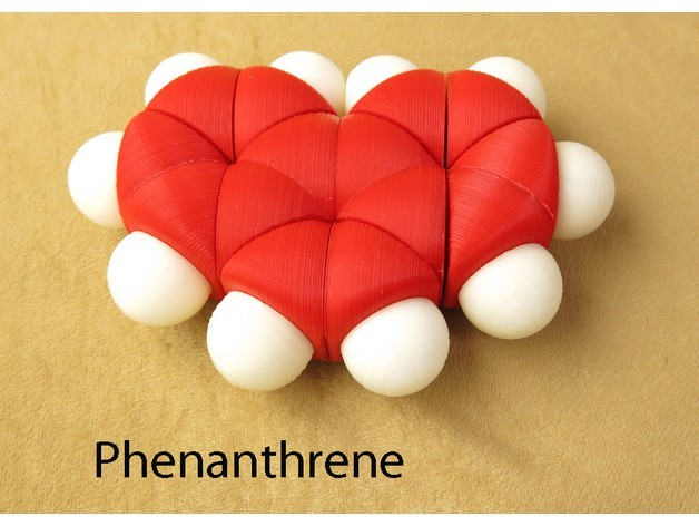 a2cc1c91a0829991d2e88f324f85870f_preview_featured.jpg Download free STL file Space-filling molecular models: Phenanthrene adventure pack • 3D printer model, harfigger