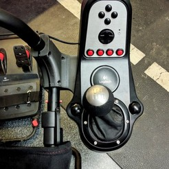 Download 3D printer designs Playseat Challenge Logitech shifter mount, frohrider