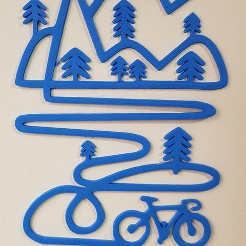 20180413_192533.jpg Télécharger fichier STL Décoration murale de vélo de montagne • Objet pour imprimante 3D, solunkejagruti