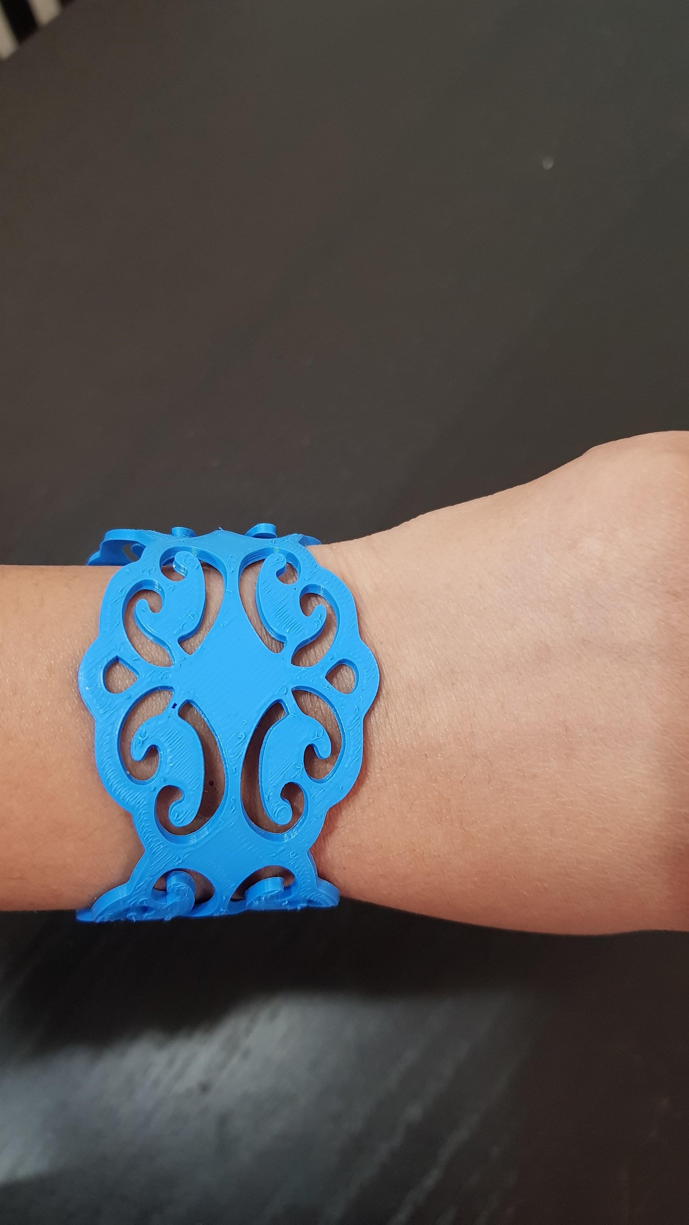 20180416_195025.jpg Download STL file Bracelet • 3D printing model, solunkejagruti