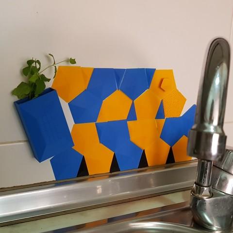 Download free 3D printing models Back splash for kitchen sink, solunkejagruti