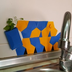 Download free 3D printing models Back splash for kitchen sink, solunkejagruti