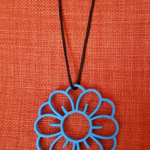 20180613_120720.jpg Télécharger fichier STL Collier à motif de fleurs • Design imprimable en 3D, solunkejagruti