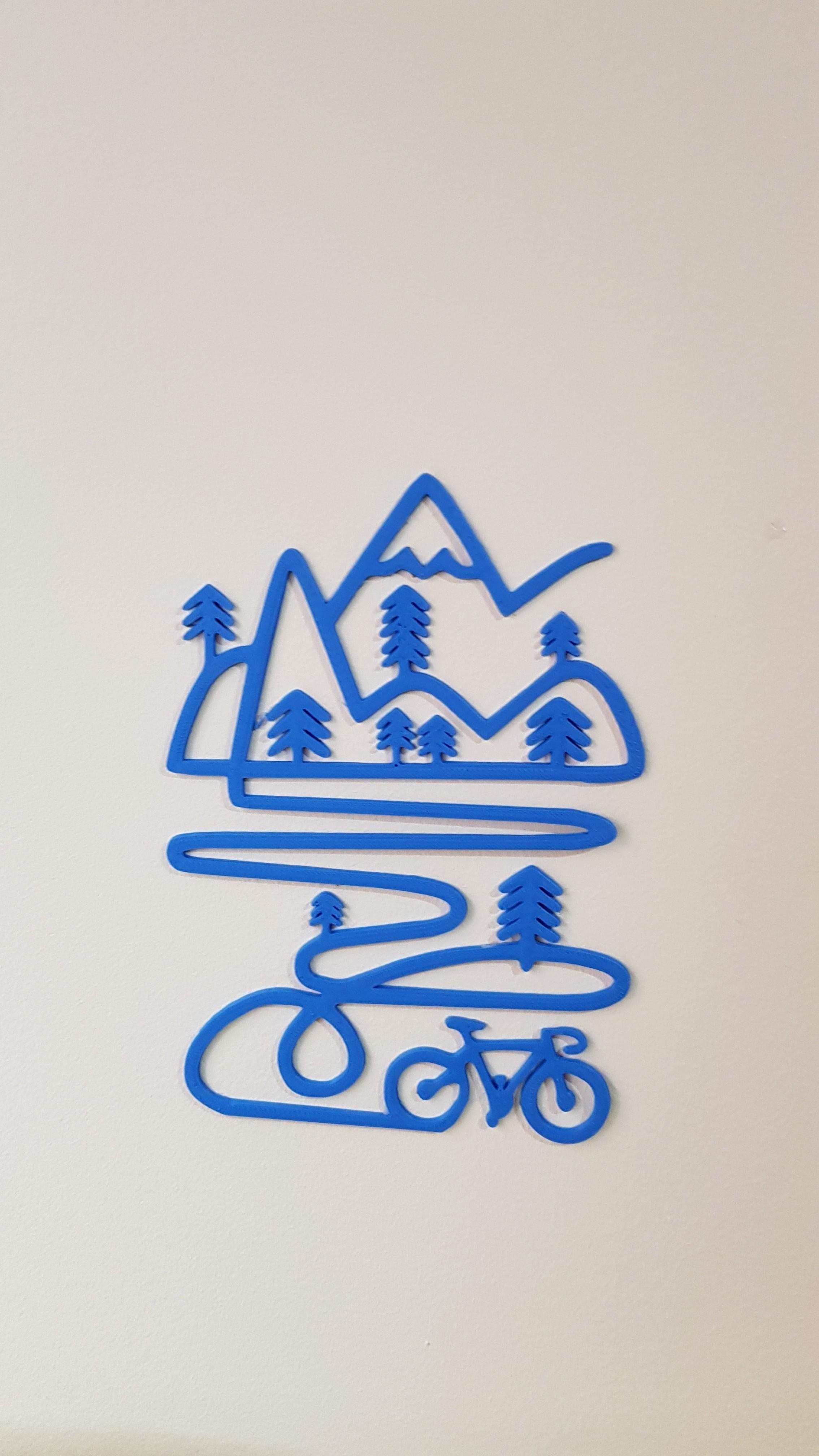 20180413_192539.jpg Télécharger fichier STL Décoration murale de vélo de montagne • Objet pour imprimante 3D, solunkejagruti
