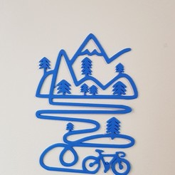 mountain bike wall decor STL file, solunkejagruti
