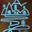 20180413_183133.jpg Télécharger fichier STL Décoration murale de vélo de montagne • Objet pour imprimante 3D, solunkejagruti