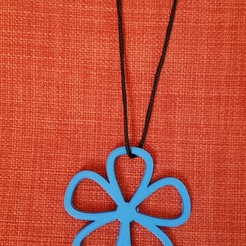 3D printer models flower design necklace, solunkejagruti