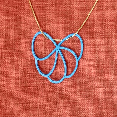 3d printer designs flower design necklace, solunkejagruti