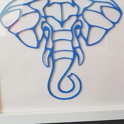 fichier stl 2d Visage d'éléphant, solunkejagruti