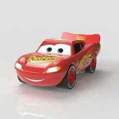 34.jpg Download STL file Lightning McQueen • 3D print template, Eyf_design