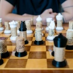 P1270431.jpg Download STL file Wine Cork Chess Set • 3D print model, Eyf_design