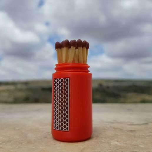 20200506_132106.jpg Download STL file Rebellious Fire Extinguisher - Matches case • 3D printer model, Eyf_design