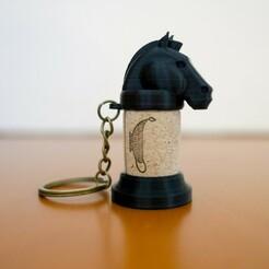 2.jpg Télécharger fichier STL Porte-clé échecs Wine Cork • Design imprimable en 3D, Eyf_design
