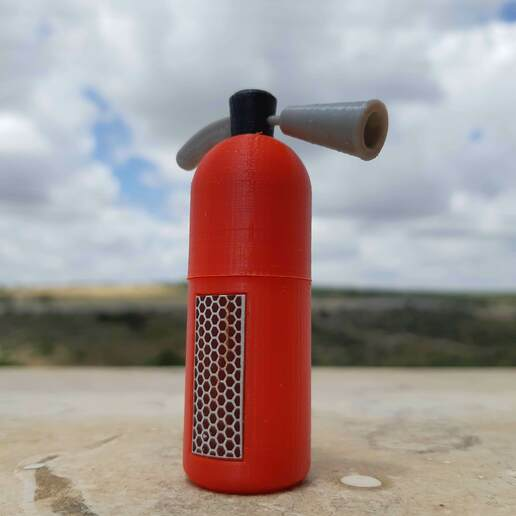 20200506_132020.jpg Download STL file Rebellious Fire Extinguisher - Matches case • 3D printer model, Eyf_design
