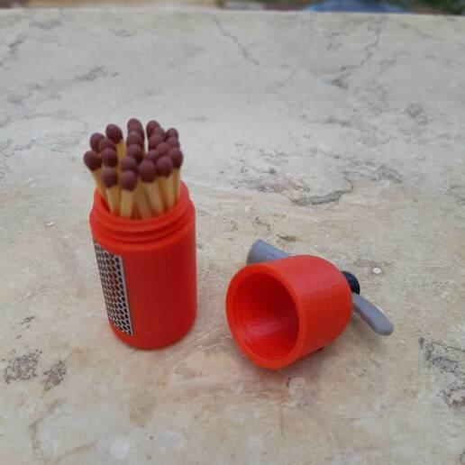20200506_132153.jpg Download STL file Rebellious Fire Extinguisher - Matches case • 3D printer model, Eyf_design