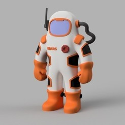 Free 3D printer designs Mars Martian, Eyfeldman