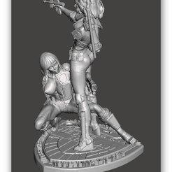 Objet 3D Nous sommes la loi - Juge Anderson & Hershey Bimbo Series 5&6 - par SPARX, wikd2011