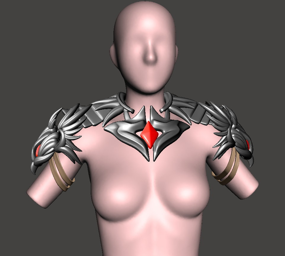 female4.jpg Download free STL file CosPlay - Female Armour 4 - BY SPARX • Template to 3D print, wikd2011