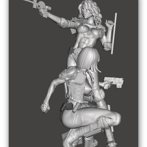 3d model We are the Law- Judge Anderson & Hershey Bimbo Series 5&6 – by SPARX, wikd2011