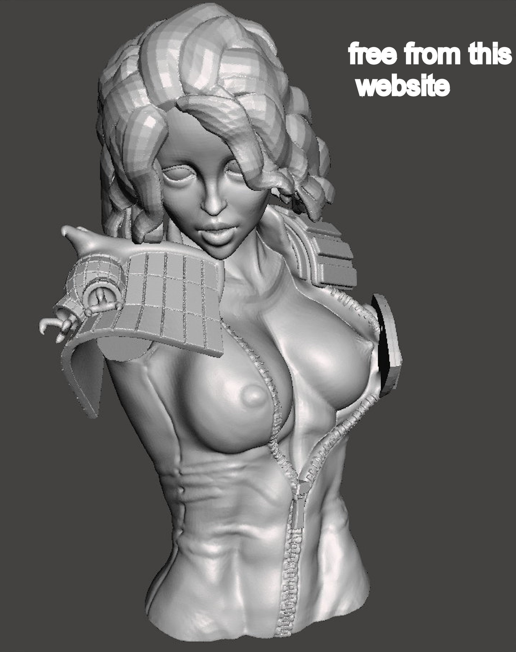 andersonfree2.jpg Download free STL file We are the Law- Judge Anderson Torso Free Model 5 – by SPARX • 3D printing template, SparxBM