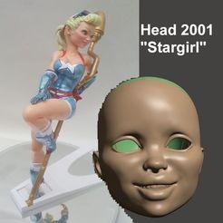 Descargar archivos STL BJD 1/3 75MM HEAD 2001 StarGirl - POR SPARX, wikd2011