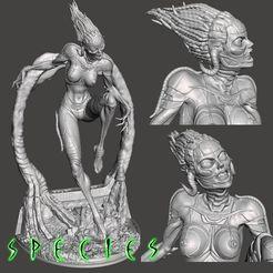 Image1.jpg Télécharger fichier STL Alien Girl - SPECIES Partie 1 par SPARX • Design à imprimer en 3D, wikd2011