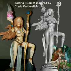 Image1.jpg Download STL file ZELDRIA the MAGE-FanArt  - by SPARX • 3D printing object, SparxBM