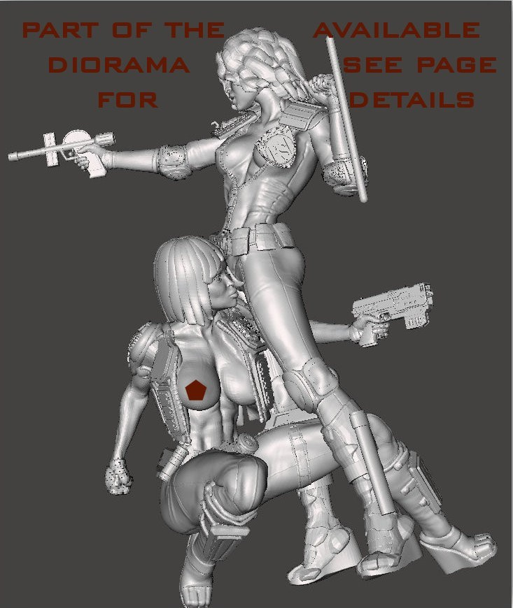 together1.jpg Download free STL file We are the Law- Judge Anderson Torso Free Model 5 – by SPARX • 3D printing template, SparxBM