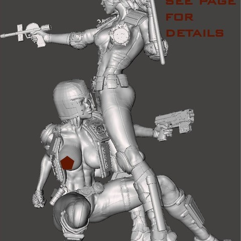 together5.jpg Download free STL file We are the Law- Judge Anderson Torso Free Model 5 – by SPARX • 3D printing template, SparxBM