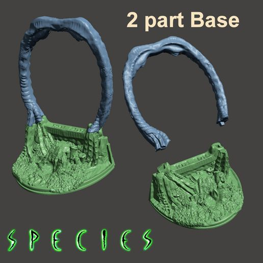 Image9.jpg Download free STL file Alien Girl - SPECIES BASE ONLY- by SPARX • 3D printing design, wikd2011
