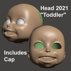 Image1.jpg Download STL file BJD 1/3 75MM HEAD Toddler - BY SPARX • 3D printer template, wikd2011