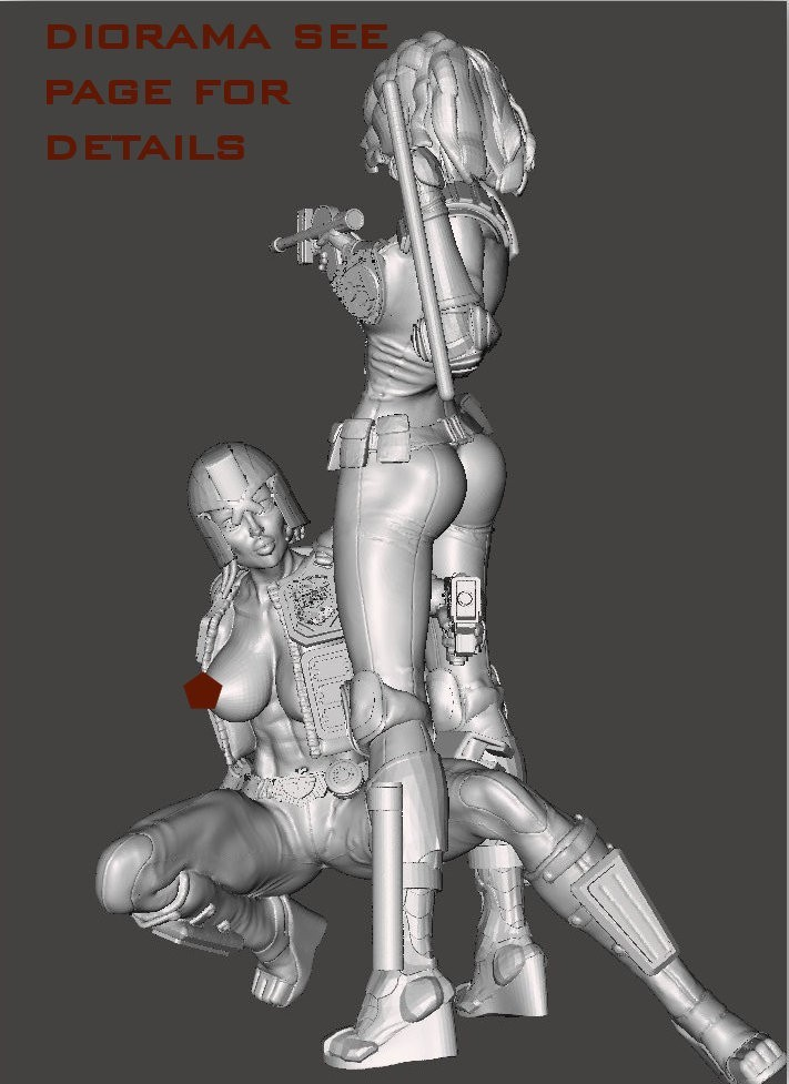 together6.jpg Download free STL file We are the Law- Judge Anderson Torso Free Model 5 – by SPARX • 3D printing template, SparxBM