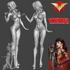 Vamp01.jpg Download STL file VAMPS 1 - Vampirella Model ONLY - by SPARX • Object to 3D print, SparxBM