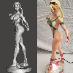 Descargar modelos 3D Beach Fighter2 - Cammy - por SPARX, wikd2011