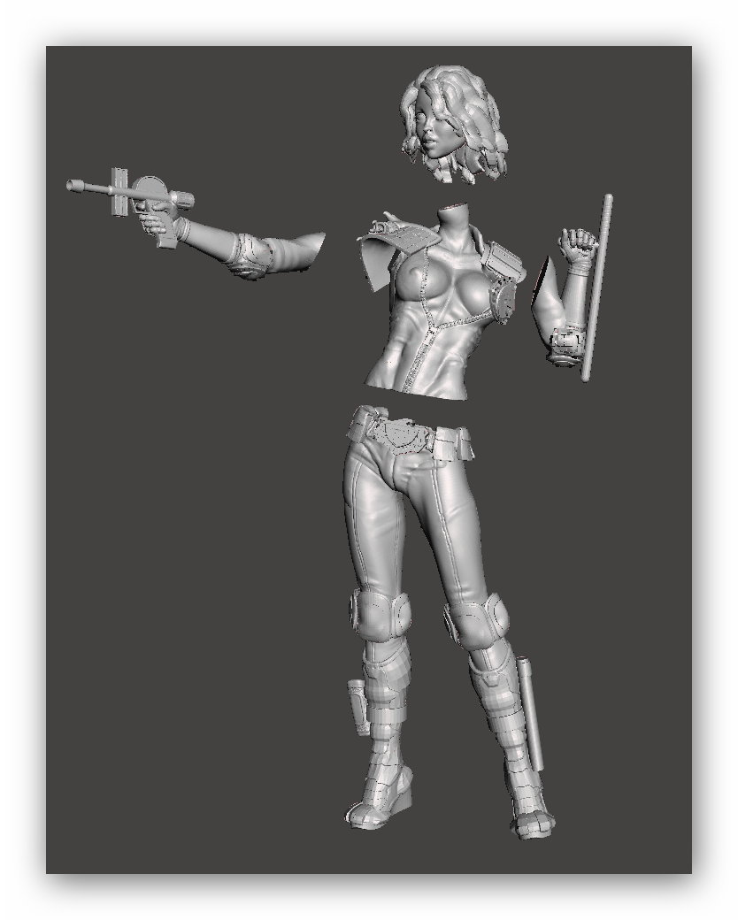 a14.jpg Download free STL file We are the Law- Judge Anderson Torso Free Model 5 – by SPARX • 3D printing template, SparxBM