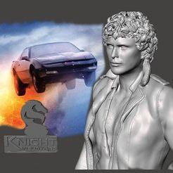 Descargar STL Knight Rider - Young Hoff - de SPARX, wikd2011