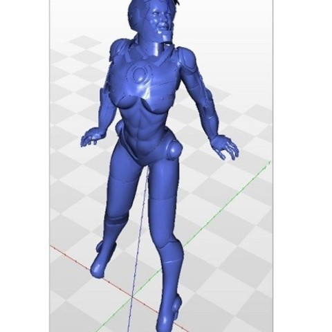Download free 3D printer templates Tina Stark aka Iron Girl - Bimbo Series Model 1 - BY SPARX, wikd2011