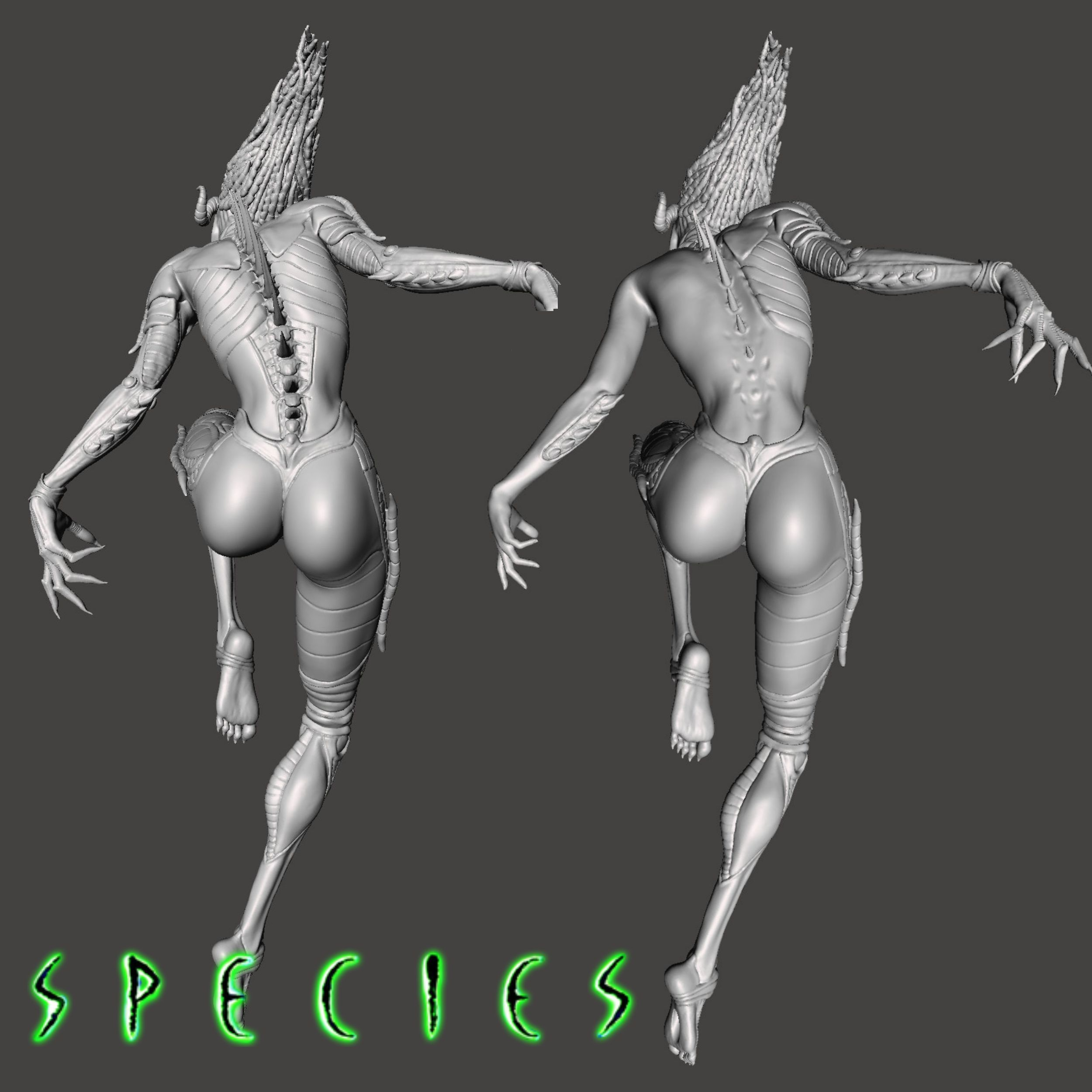 Image14.jpg Download STL file Alien Girl - SPECIES Part 1- by SPARX • 3D printable object, wikd2011
