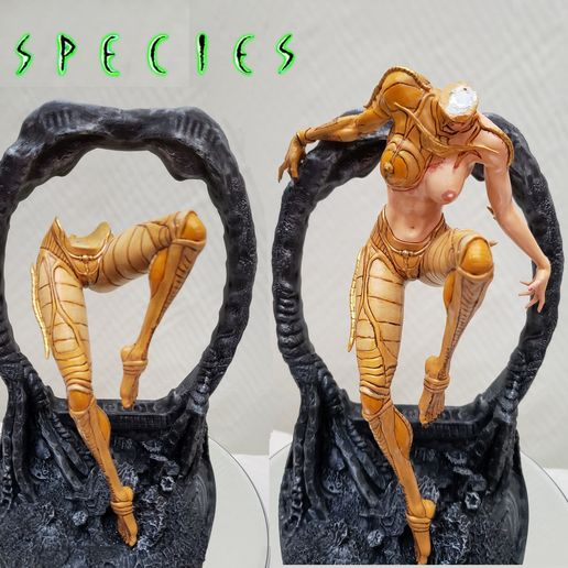 photo7.jpg Download STL file Alien Girl - SPECIES Part 1- by SPARX • 3D printable object, wikd2011