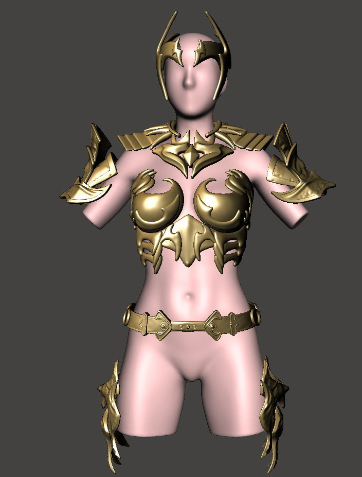 female1.jpg Download free STL file CosPlay - Female Armour 1 - BY SPARX • 3D printer template, wikd2011