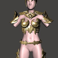 Download free STL files CosPlay - Female Armour 1 - BY SPARX, wikd2011