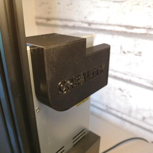 Download free STL files Creality Ender 3 Pro PSU fan cover, patrikglasoga