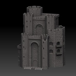 render.jpg Download OBJ file Kaer Morhen Castle Main Fortress • 3D printer model, Dogukan