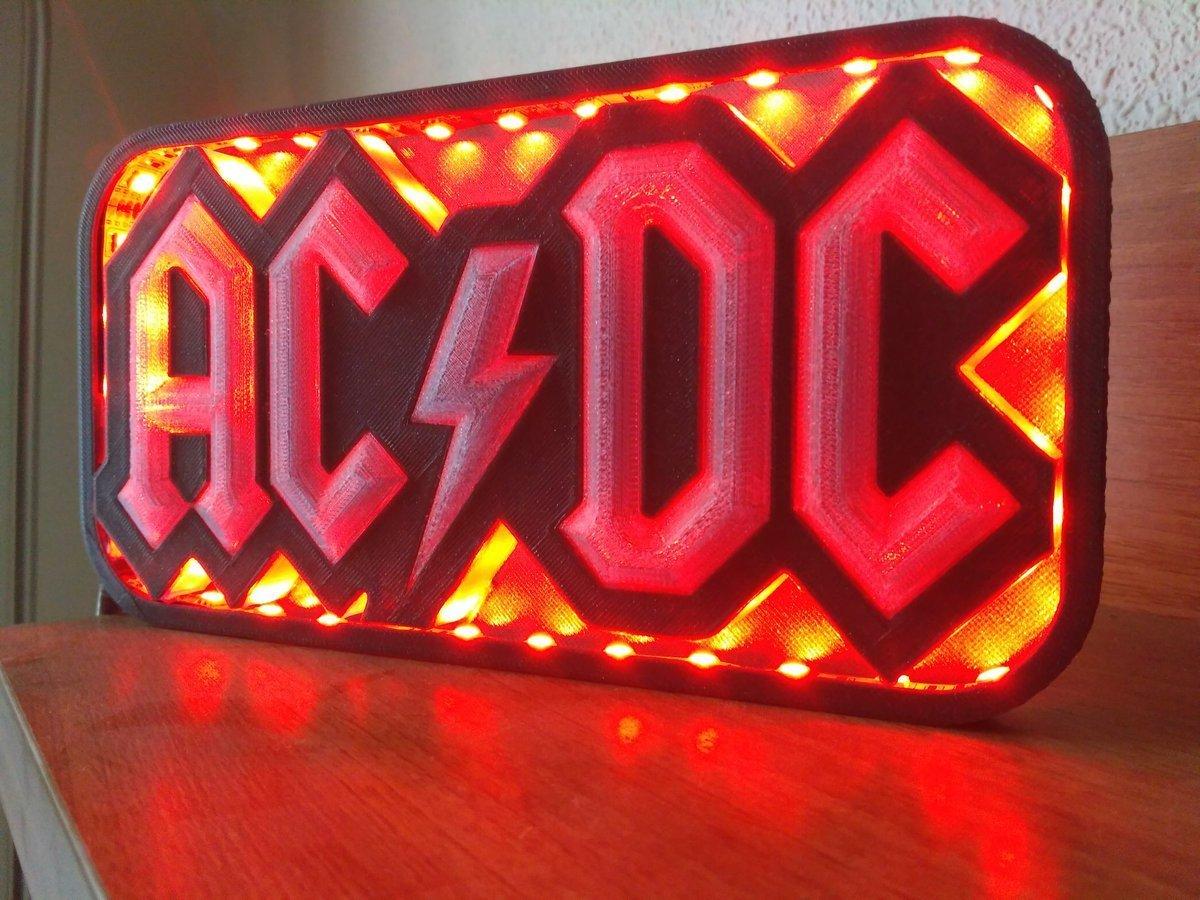 lampred.jpg Download STL file AC/DC led lamp #3dprintRocks • 3D printing model, irunea3dprint