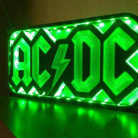 lampgreen.jpg Download STL file AC/DC led lamp #3dprintRocks • 3D printing model, irunea3dprint