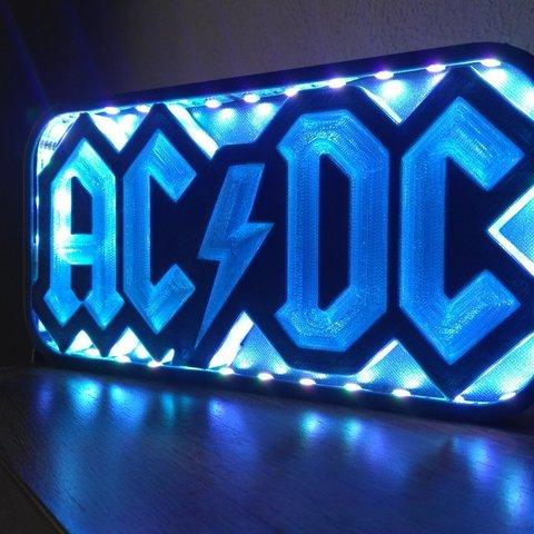 lampwhite.jpg Download STL file AC/DC led lamp #3dprintRocks • 3D printing model, irunea3dprint
