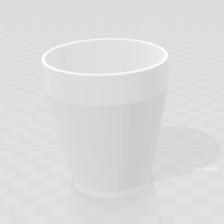 Free Double walled cup 3D printer file, Cr4zy