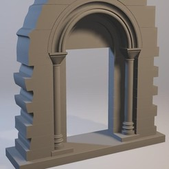 Plan 3D porte romane monolithe, prosenstein